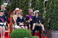Prince Laurent of Belgium & Princess Claire & kids - National Day