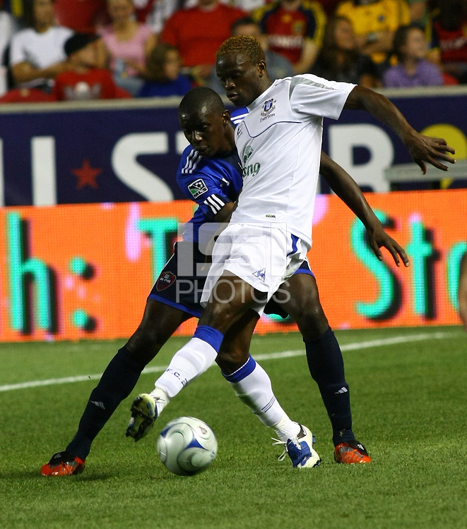 Bakary Soumare and Louis Saha in the MLS All Stars v Everton 4-3 Everton win at Rio Tinto Stadium in Sandy, Utah on July 29, 2009