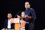 Ignacio Aguado, Citizens - Ciudaddanos Group spokesman in the Assembly of Madrid, speaks during the partys final campaign meeting on Isabel II Square in Madrid ahead of the June 26 general election. June 24,2015. (ALTERPHOTOS/Acero)
