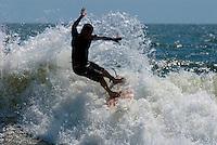 Surfing Rockaway Beach, NY on Sunday, August 8, 2010 at B67th Steet.