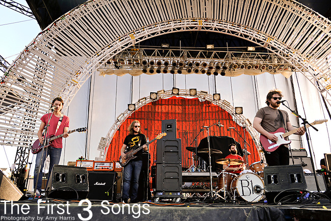 The Manchester Orchestra performs during the Beale Street Music Festival in Memphis, TN on April 29, 2011.