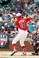 Third baseman David Thompson #18 during the Under Armour All-American Game at Wrigley Field on August 13, 2011 in Chicago, Illinois.  (Mike Janes/Four Seam Images)