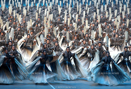 AUGUST 8, 2008 - Opening Ceremony : Artists perform during the opening ceremony for the 2008 Beijing Summer Olympics at the National Stadium on August 8, 2008 in Beijing, China. (Photo by Koji Aoki/AFLO SPORT) [0008].