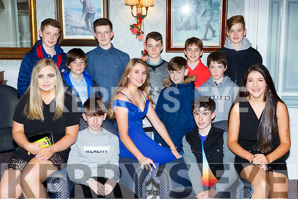 Talented cyclists at the Killarney Cycling club Christmas party in the Dromhall Hotel on Saturday night front row l-r: Sarah McGrath, Evan Murphy, Almha Kissane, Shane Galvin and Tara Kissane. Back row: Ruairi Coughlan, Bryan Hanafin, Mark McGlynn, Louis Stedman, Adam Murphy, Luke Murphy, Calvin Steadman and Brian Doherty