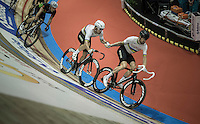 Sir Bradley Wiggins (GBR/Wiggins) &amp; Mark Cavendish (GBR/Dimension Data) relay<br /> <br /> <br /> 2016 Gent 6<br /> day 4