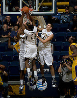 Kahlil Johnson of California tries to rebound the ball during the game against CSUB at Haas Pavilion in Berkeley, California on November 11th, 2012.  California defeated CSUB, 78-65.