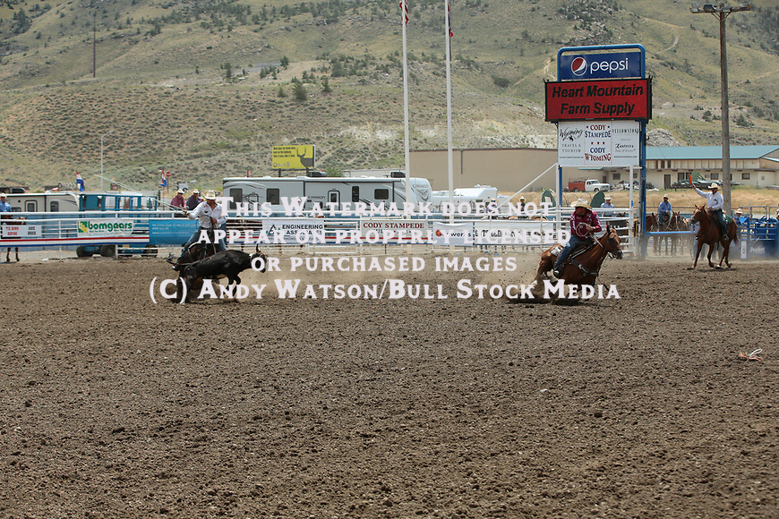 Coleman Proctor, Billie Jack, during the 07/02 slack performance of the Cody PRCA rodeo. Photo by Andy Watson. All Photos (C) Watson Rodeo Photos, INC. Any use must have written Permission.