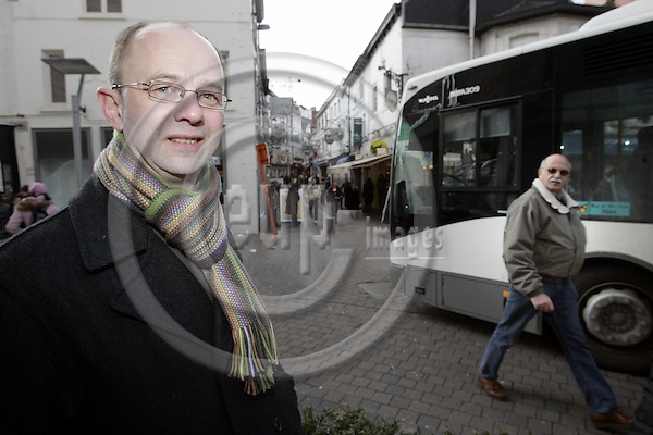 HASSELT - BELGIUM - 02 MARCH 2006 -- The city of Hasselt has introduced a free puplic transport service since 1997. -- Marc VERACHTERT, spokesman for Hasselt council. -- PHOTO: JUHA ROININEN / EUP-IMAGES