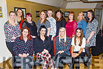 The staff of Na Leanai Childcare in Causeway, enjoying the night out, in the Brogue Inn on Saturday., <br /> Seated l to r: Jennifer Collins, Christina Dineen, Mary O'Carroll and Cynthia Barrett.<br /> Back l to r: Tracy Gaynor, Kimberley McCarthy, Fiona Flynn, Louise Corridan, Robert Stack, Marion Cunningham, Theresa O'Connor, Susan White and Laura Donnegan.