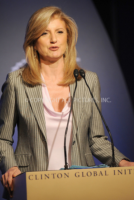 WWW.ACEPIXS.COM . . . . . .September 23, 2010...New York City... Arianna Huffington  speakS at the Clinton Global Initiative annual meeting in New York  on September 23, 2010 in New York City....Please byline: KRISTIN CALLAHAN - ACEPIXS.COM.. . . . . . ..Ace Pictures, Inc: ..tel: (212) 243 8787 or (646) 769 0430..e-mail: info@acepixs.com..web: http://www.acepixs.com .