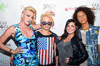 Jersey Shore's Angelina Pivarnick and Designer Indashio Batory attend Indashio's American Dream Fashion Show at Hudson Terrace during New York Fashion Week SS2013 on September 13, 2012 in New York City