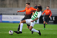 Pictured: Daniel Williams of Swansea City u19's in action during the FAW youth cup final between Swansea City and The New Saints at Park Avenue in Aberystwyth Town, Wales, UK.<br /> Wednesday 17 April 2019