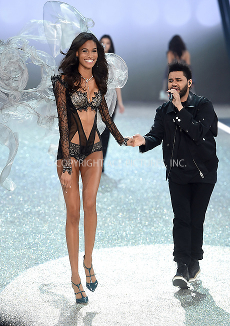 www.acepixs.com<br /> <br /> November 30 2016, New York City<br /> <br /> Cindy Bruna walks the runway as The Weeknd performs on the runway during the Victoria's Secret Fashion Show on November 30, 2016 in Paris, France.<br /> <br /> By Line: Alain Benainous/ACE Pictures<br /> <br /> <br /> ACE Pictures Inc<br /> Tel: 6467670430<br /> Email: info@acepixs.com<br /> www.acepixs.com