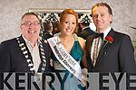 Mayor of Kerry Bobby O'Connell, 2009 Kerry Rose Karen McGillycuddy and Dathai O'Se pictured at the Kerry Rose Selection at the Earl of Desmond Hotel on Saturday night.