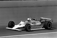 INDIANAPOLIS, IN - MAY 24: Al Unser drives the Longhorn LR02/Cosworth during the Indianapolis 500 USAC/CART Indy Car race at the Indianapolis Motor Speedway in Indianapolis, Indiana, on May 24, 1981.