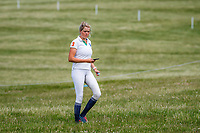 AUS-Isabel English walks the course during the Cross Country for the Novice Section. 2019 GBR-Barbury Castle International Horse Trial. Wiltshire, Great Britain. Friday 5 July. Copyright Photo: Libby Law Photography