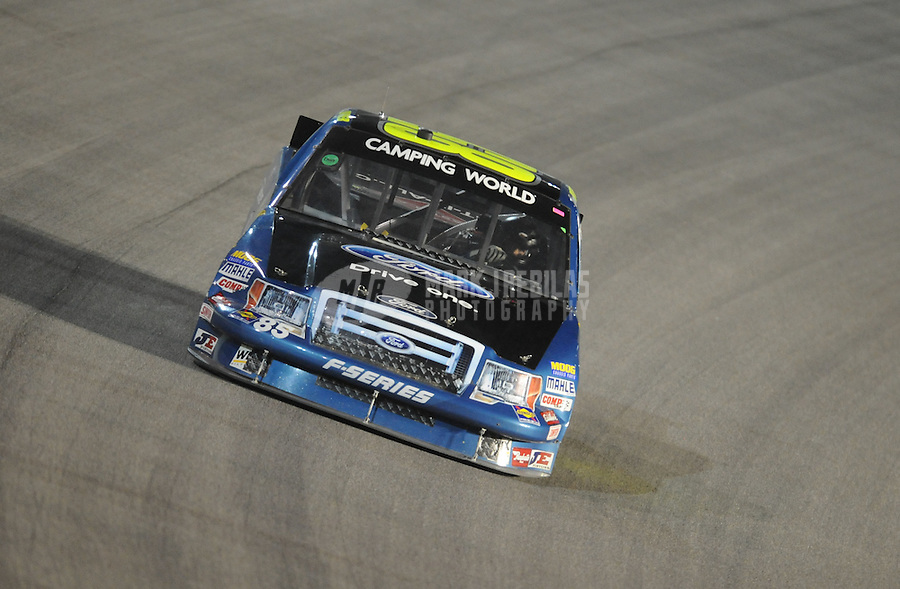 Nov. 19, 2010; Homestead, FL, USA; NASCAR Camping World Truck Series driver Brent Raymer during the Ford 200 at Homestead Miami Speedway. Mandatory Credit: Mark J. Rebilas-