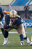 Pitt defensive lineman Khaynin Mosley-Smith. The Georgia Tech Yellow Jackets defeated the Pitt Panthers 56-28 at Heinz Field, Pittsburgh Pennsylvania on October 25, 2014.