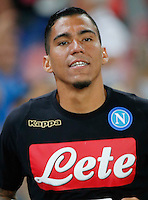 Miguel Allan  during the friendly soccer match,between SSC Napoli and Onc Nice      at  the San  Paolo   stadium in Naples  Italy , August 01, 2016<br />  during the friendly soccer match,between SSC Napoli and Onc Nice      at  the San  Paolo   stadium in Naples  Italy , August 02, 2016