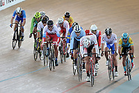 CALI – COLOMBIA – 18-02-2017: Prueba Omnium I Varones, en el Velodromo Alcides Nieto Patiño, sede de la III Valida de la Copa Mundo UCI de Pista de Cali 2017. / The Omnium men Race at the Alcides Nieto Patiño Velodrome, home of the III Valid of the World Cup UCI de Cali Track 2017. Photo: VizzorImage / Luis Ramirez / Staff.