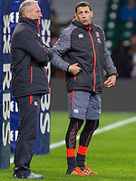 Head Coach Simon Middleton and Assistant Coach Scott Bemand before the match, England Women v France Women in a 6 Nations match at Twickenham Stadium, London, England, on 4th February 2017 Final Score 26-13.