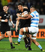 9th September 2017, Yarrow Stadium, New Plymouth. New Zealand; Supersport Rugby Championship, New Zealand versus Argentina; Vaea Fifita on the charge