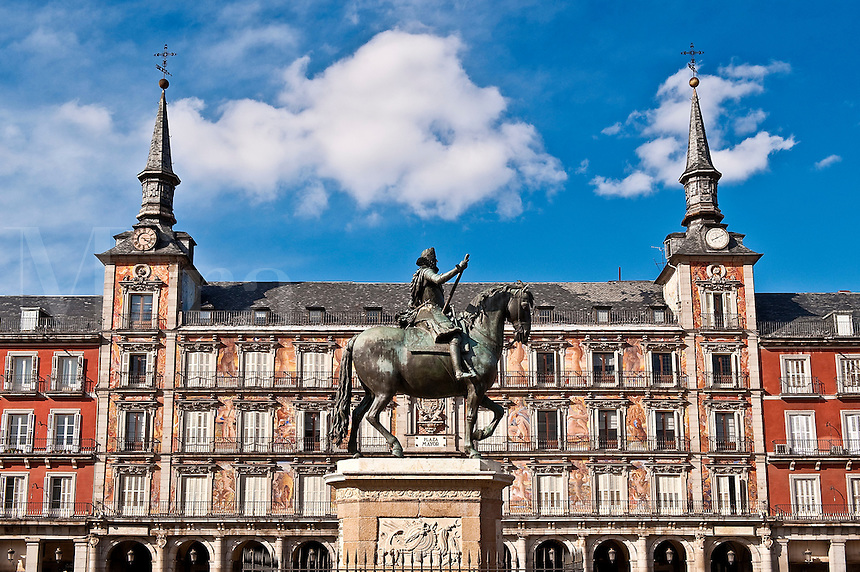 Statue of King Philip III on horseback, Plaza Mayor, Madrid, Spain