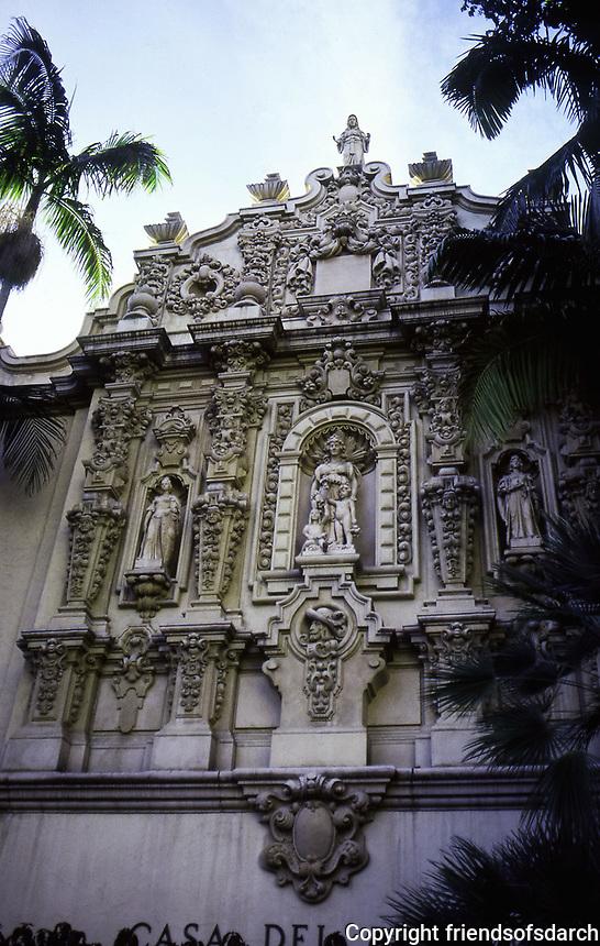 Balboa Park: Casa Del Prado, San Diego. Photo 1987.