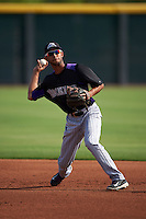 Colorado Rockies Carlos Herrera (2) during practice before an instructional league game against the SK Wyverns on October 10, 2015 at the Salt River Fields at Talking Stick in Scottsdale, Arizona.  (Mike Janes/Four Seam Images)