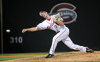 Sept. 17, 2009: Sidearm pitcher Kyle Rutter (38) throws in relief in Game 3 of the South Atlantic League Championship Series between the Greenville Drive and the Lakewood BlueClaws Sept. 17, 2009, at Fluor Field at the West End in Greenville, S.C.  Photo by: Tom Priddy/Four Seam Images