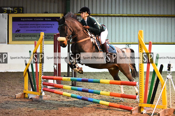 Stapleford Abbotts. United Kingdom. 03 November 2019. Class 6. Unaffiliated Showjumping championship show. Brook Farm training centre. Stapleford Abbotts. Essex. United Kingdom. Credit Melody Fisher/Sport in Pictures.~ 03/11/2019.  MANDATORY Credit Melody Fisher/SIP photo agency - NO UNAUTHORISED USE - 07837 394578