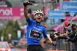 Maglia Azzurra Giulio Ciccone (ITA) Trek-Segafredo wins Stage 16 of the 2019 Giro d'Italia, running 194km from Lovere to Ponte di Legno, Italy. 28th May 2019<br /> Picture: Gian Mattia D'Alberto/LaPresse | Cyclefile<br /> <br /> All photos usage must carry mandatory copyright credit (© Cyclefile | Gian Mattia D'Alberto/LaPresse)