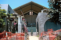 Rob W. Quigley: Sherman Heights Community Center. 2000 block of Island St., San Diego. Elevation from entrance. Photo '96.