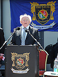 President Michael D Higgins speaking at the unveiling of a plaque to Seaman Michael Quinn. Photo: Colin Bell/pressphotos.ie