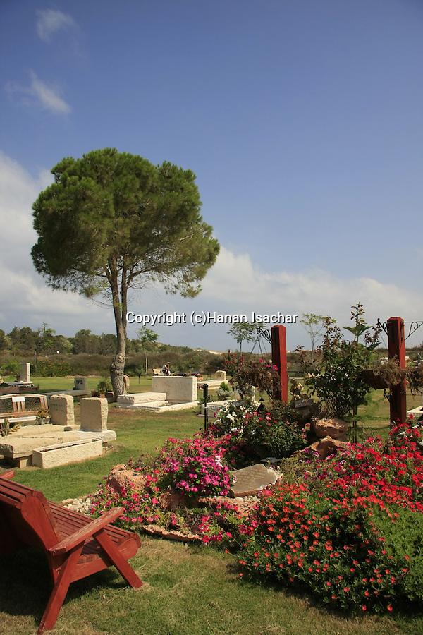 Israel, Carmel coast, the cemetery in Ein Carmel.