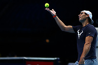 15th November 2019; 02 Arena. London, England; Nitto ATP Tennis Finals; Rafael Nadal (Spain) during his practice session - Editorial Use