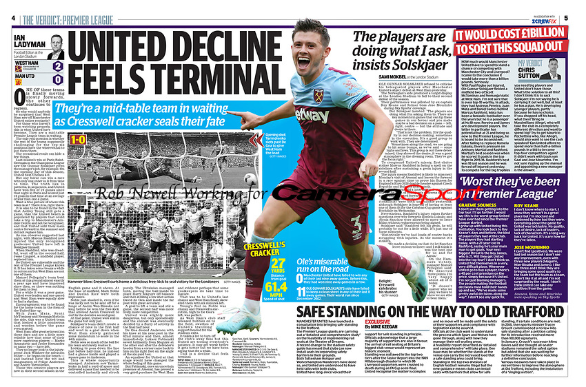 Daily Mail - 23-Sep-2019 - 'Delight: Cresswell celebrates his stunner' - Photo by Rob Newell (Camerasport via Getty Images)