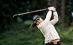 Ji-Hae Jang of Korea hits her shot during the Hyundai China Ladies Open 2014 on December 12 2014 at Mission Hills Shenzhen, in Shenzhen, China. Photo by Li Man Yuen / Power Sport Images