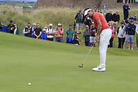 Mike Lorenzo-Vera (FRA) putts on the 17th green during Saturday's Round 3 of the Dubai Duty Free Irish Open 2019, held at Lahinch Golf Club, Lahinch, Ireland. 6th July 2019.<br /> Picture: Eoin Clarke | Golffile<br /> <br /> <br /> All photos usage must carry mandatory copyright credit (© Golffile | Eoin Clarke)