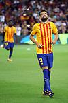 Supercopa de Espa&ntilde;a - Ida.<br /> FC Barcelona vs R. Madrid: 1-3.<br /> Gerard Pique.
