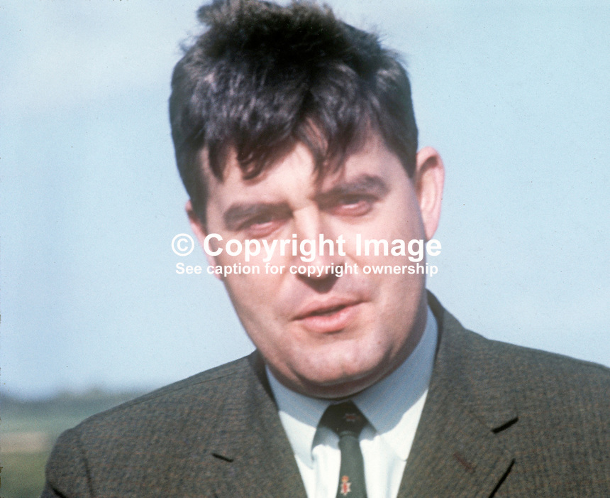 John Taylor, Ulster Unionist politician, MP, Minister of State, Ministry of Home Affairs, N Ireland Parliament, Belfast, UK, August 1970. 197008000298<br />