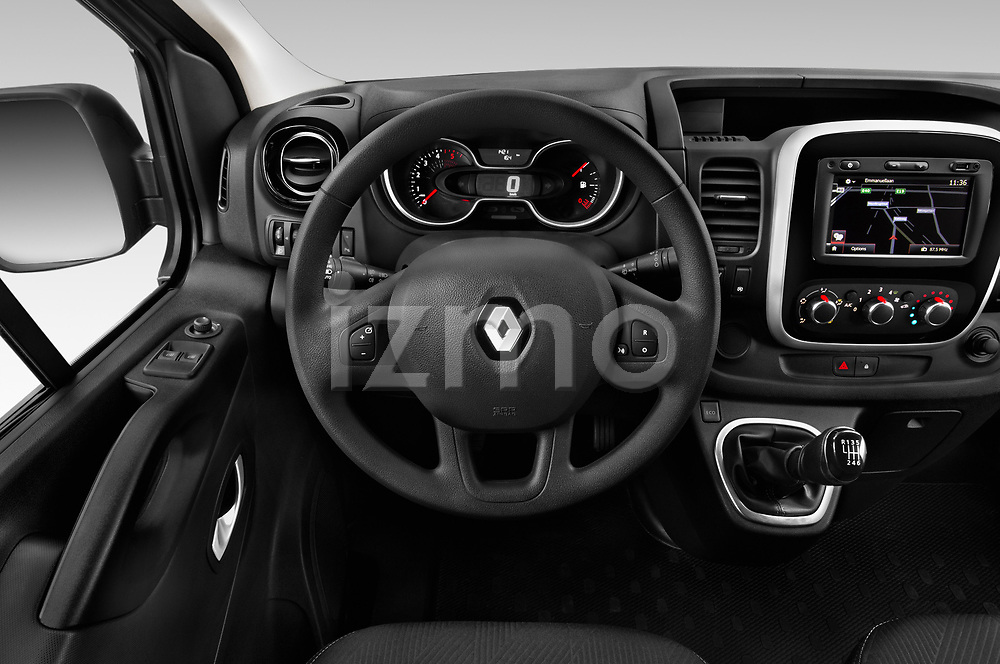 Car pictures of steering wheel view of a 2020 Renault Trafic Grand-Confort 4 Door Cargo Van