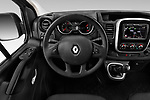 Car pictures of steering wheel view of a 2020 Renault Trafic Grand-Confort 4 Door Cargo Van