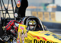 Mar. 12, 2012; Gainesville, FL, USA; NHRA top alcohol dragster driver Bill Reichert during the Gatornationals at Auto Plus Raceway at Gainesville. The race is being completed on Monday after rain on Sunday. Mandatory Credit: Mark J. Rebilas-