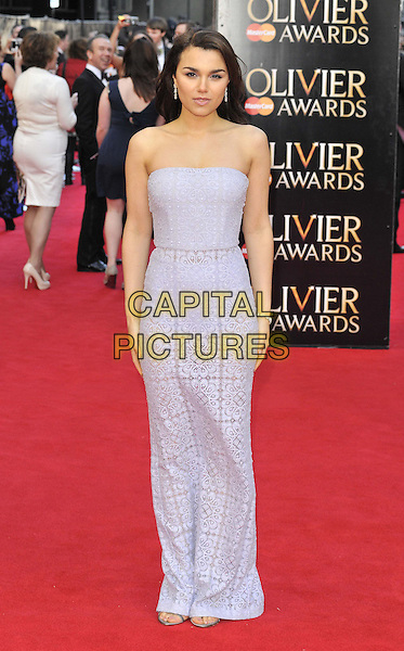 LONDON, ENGLAND - APRIL 13: Samantha Barks attends the Olivier Awards 2014, Royal Opera House, Covent Garden, on Sunday April 13, 2014 in London, England, UK.<br /> CAP/CAN<br /> &copy;Can Nguyen/Capital Pictures