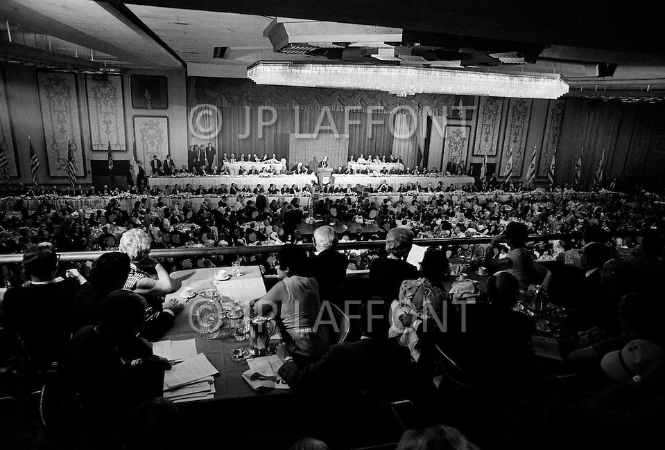 September 20th, 1970, Golda Mier at the opening of the UN session, Hilton Hotel, New York City.