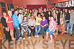 Birthday Boy - Andy McCarthy from Kilmoyley, seated centre having a ball with friends and family at his 21st birthday bash held in McElligot's Bar, Ardfert on Friday night............................................................................................................................................................................................................................................................................................................. ............
