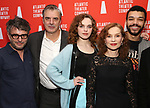Trip Cullman, Odessa Young, Chris Noth, Isabelle Huppert and Justice Smith during the Opening Night after party for Atlantic Theater Company's 'The Mother' at The Gallery at the Dream Downtown on March 11, 2019 in New York City.