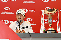 SINGAPORE - MARCH 03: Sung Hyun Park of South Korea during the final round press conference of the HSBC Women's World Championship 2019 at Sentosa Golf Club - Tanjong Course, Singapore on March 03, 2019.<br /> .<br /> .<br /> .<br /> (Photo by: Naratip Golf Srisupab/SEALs Sports Images)<br /> .<br /> Any image use must include a mandatory credit line adjacent to the content which should read: Naratip Golf Srisupab/SEALs Sports Images