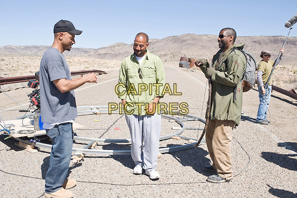 ALBERT HUGHES and ALLEN HUGHES (DIRECTOR) & DENZEL WASHINGTON .on the set of The Book of Eli .*Filmstill - Editorial Use Only*.CAP/FB.Supplied by Capital Pictures.